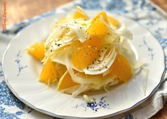 Фенхель и апельсин