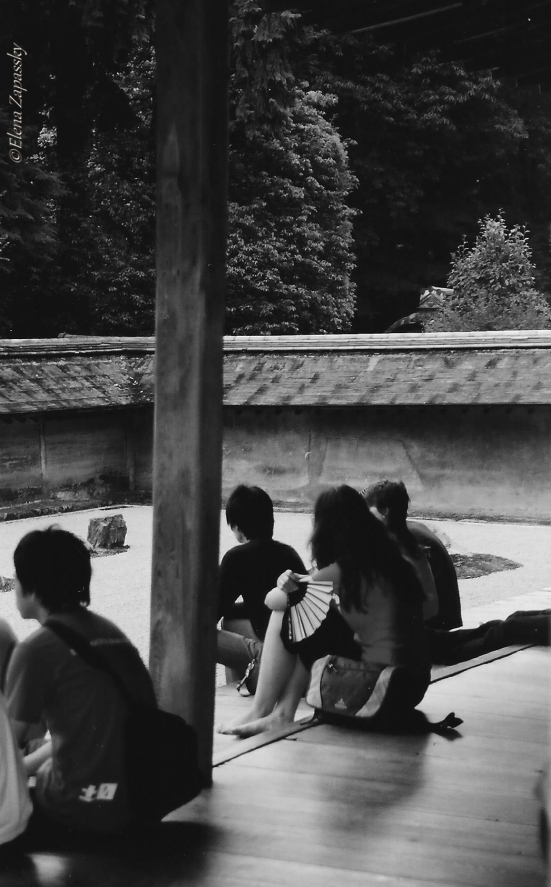 rock garden  Сад камней Япония Киото