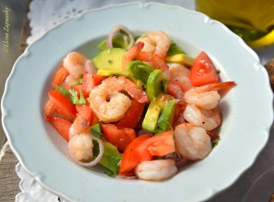 салат из креветок shrimps salad