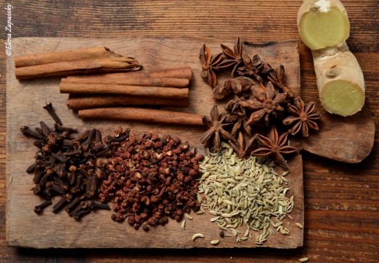 5 spices and ginger