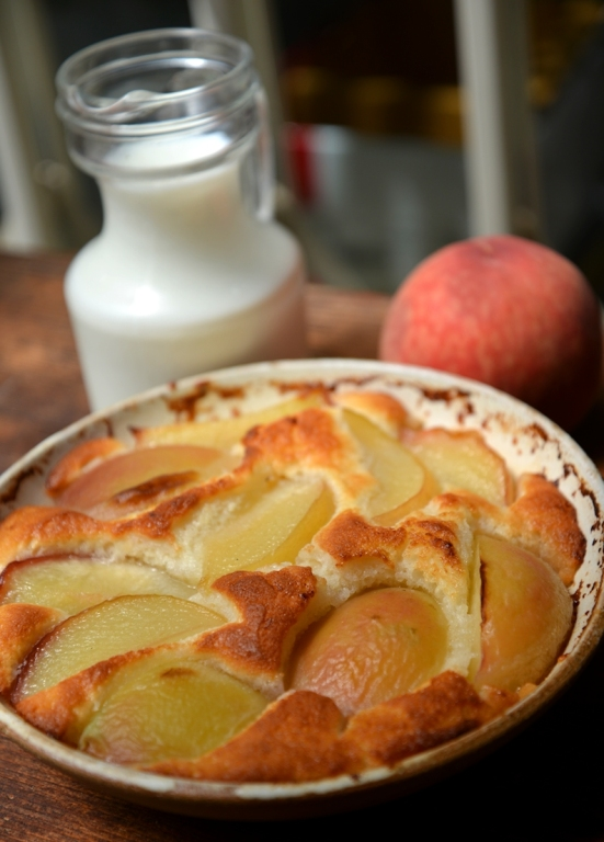 Peaches cobbler