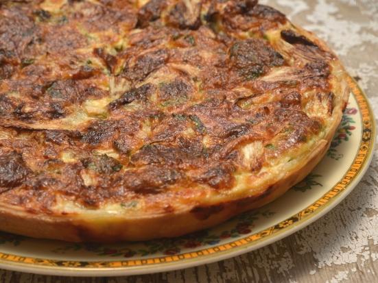 Киш с цикорием и сыром