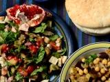Салат с хумусом и салат с курицей — 2 салата в морокканскомстиле