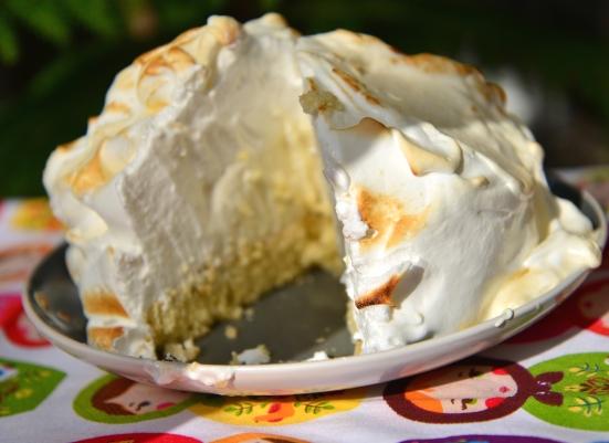 Запеченная Аляска Baked Alaska десерт для новогоднего стола