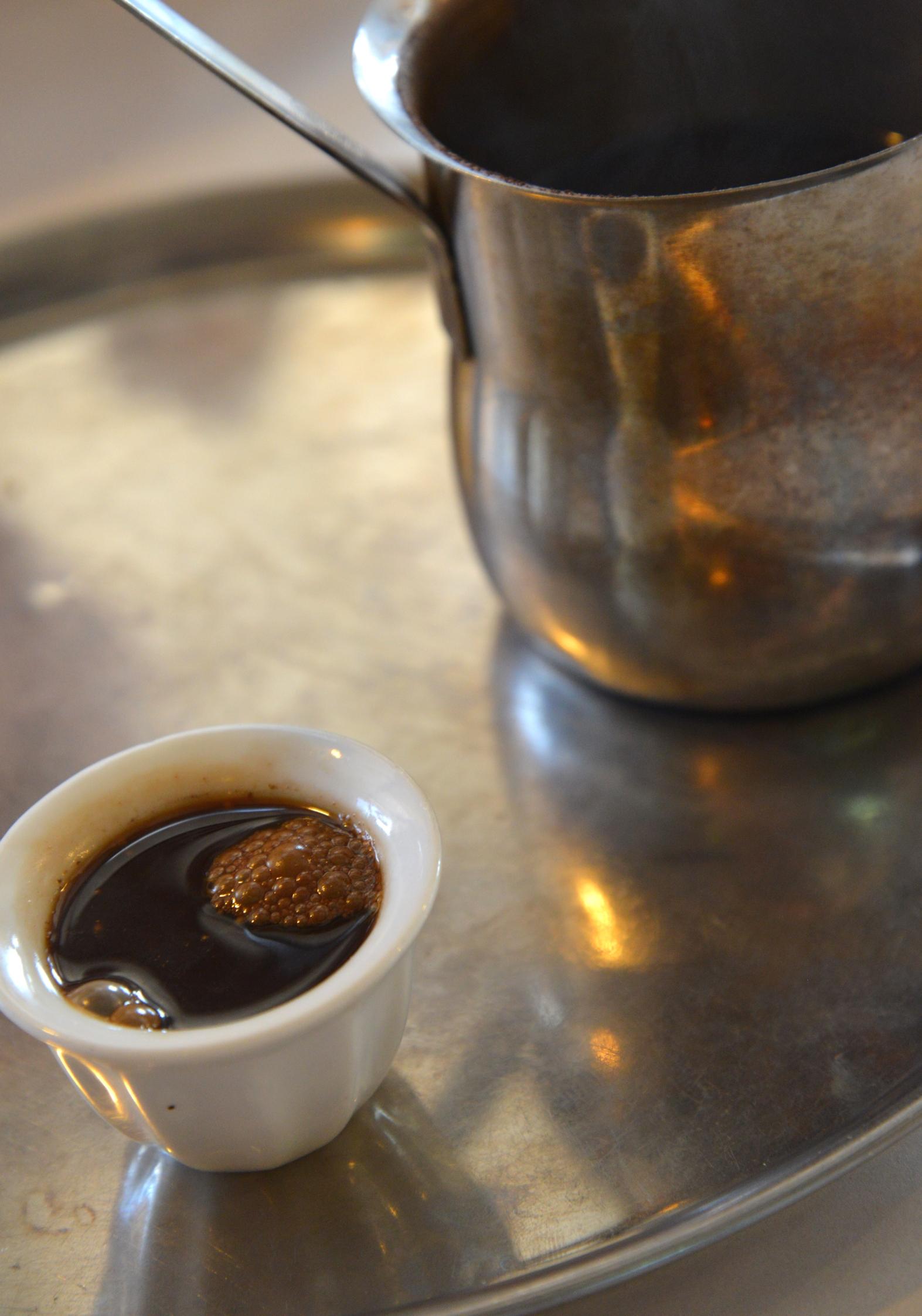 Кофе в арабском ресторане