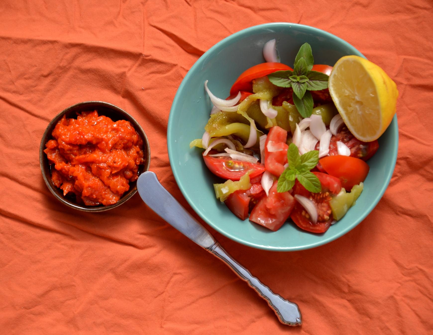 Айвар и македонский салат