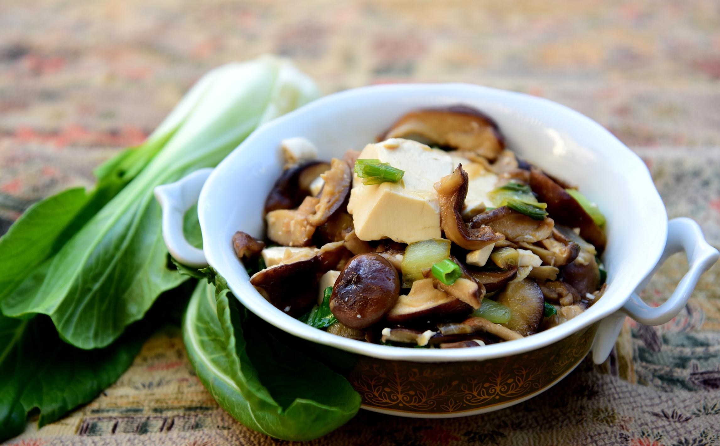 Тофу с грибами