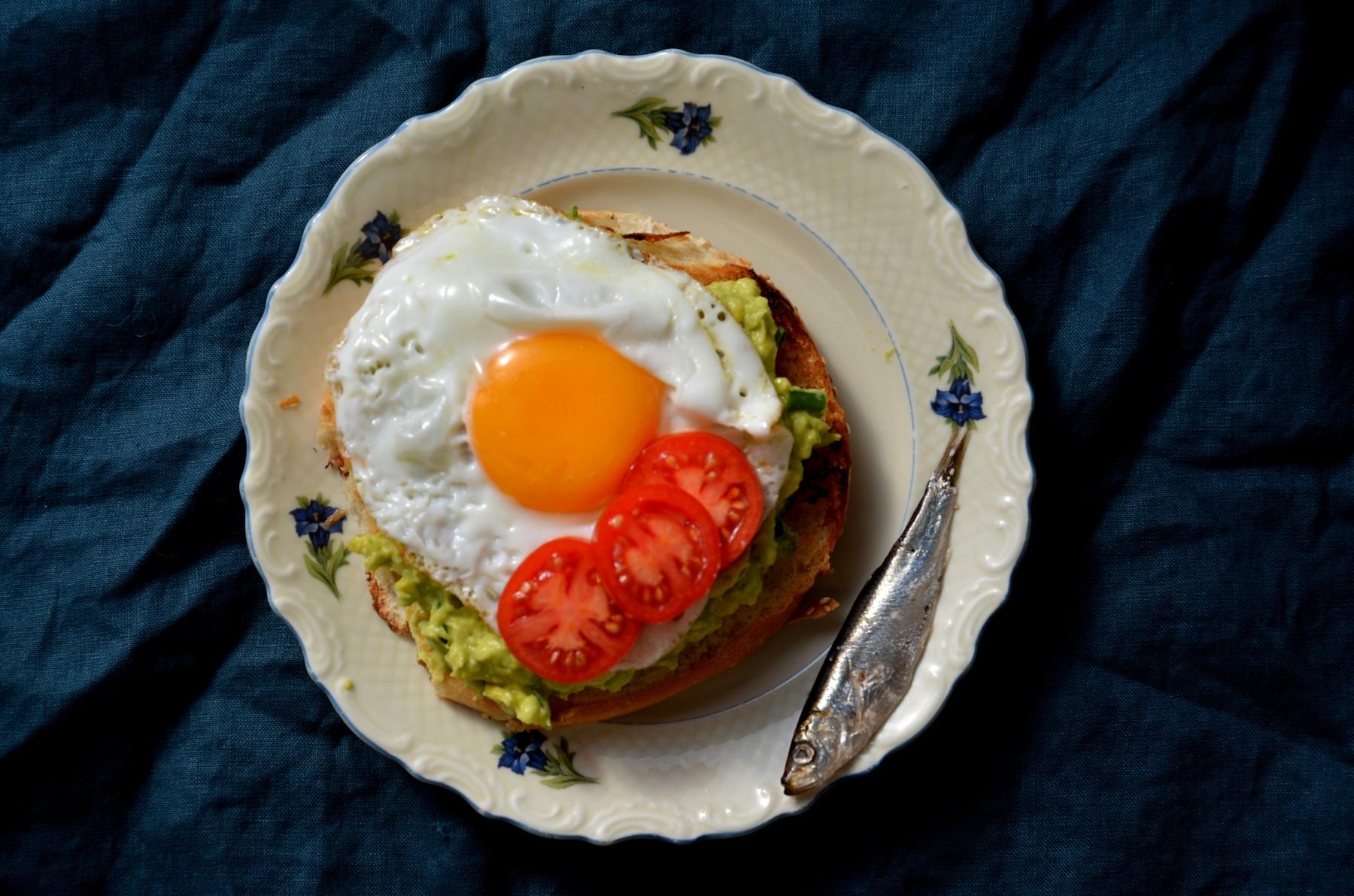 Авокадо на завтрак breakfast avocado