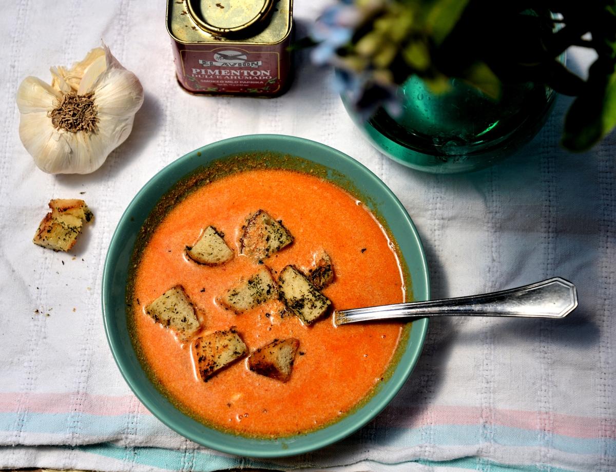 Испанский чесночный суп  Sopa de Ajo