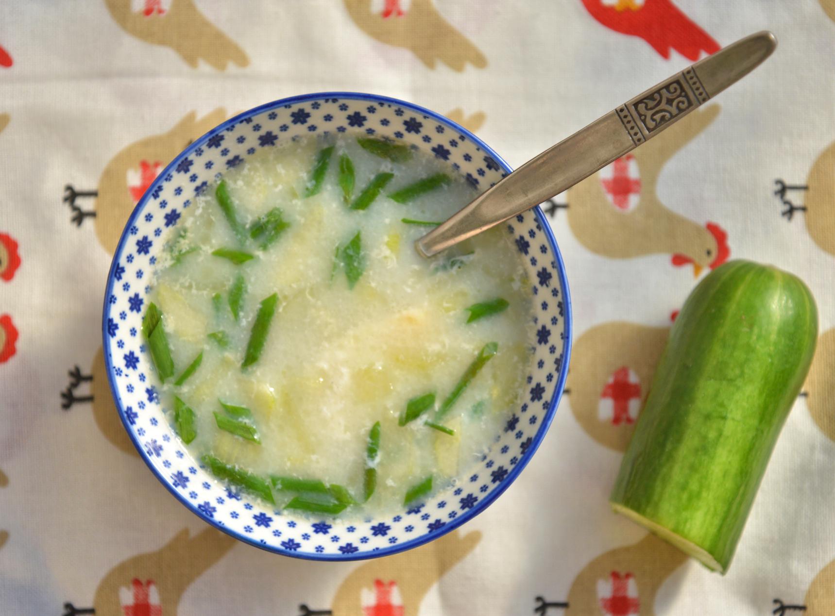 Суп из старых огурцов