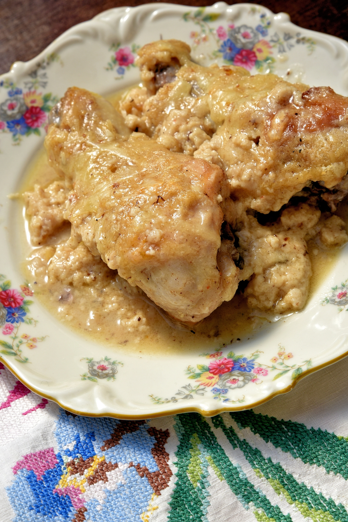 Poulet à la comtoise Цыпленок в стиле Конте
